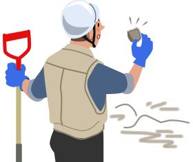 遺跡発掘のリスク